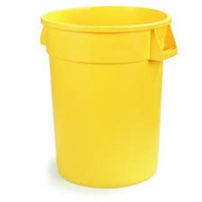 Carlisle 34101004 10-gal Waste Container - Polyethylene, Yellow