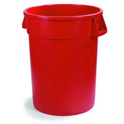 Carlisle 34102005 20-gal Round Waste Container - Polyethylene, Red