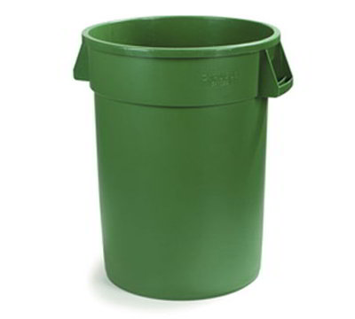 Carlisle 34101009 10-gal Waste Container - Polyethylene, Green