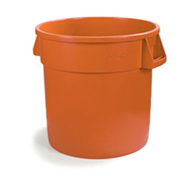 Carlisle 341010-24 10-gal Waste Container - Polyethylene, Orange
