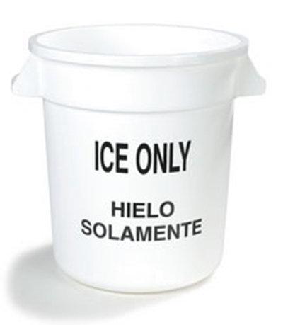 Carlisle 341010ICE02 10-gal Ice Container - Polyethylene, White