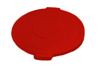 Carlisle 34101105 10-gal Round Waste Container Lid - Polyethylene, Red