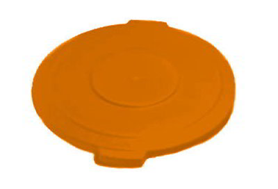 Carlisle 341045-24 44-gal Round Waste Container Lid - Polyethylene, Orange