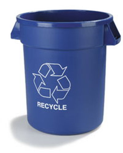 Carlisle 341044REC14 44-gal Round Recycle Waste Container - Polyethylene, Blue