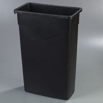 Carlisle 34202303 23-gal Rectangular Waste Container - Polyethylene, Black
