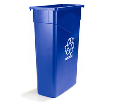 Carlisle 342015REC-14 15-gal Rectangular Recycle Container - Polyethylene, Blue