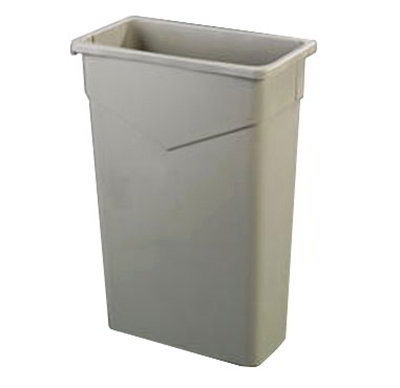 Carlisle 34202309 23-gal Rectangular Waste Container - Polyethylene, Green