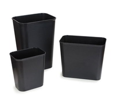 Carlisle 342927-03 28-qt Rectangular Wastebasket - Black