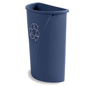 Carlisle 343021REC-14 21-gal Half-Round Recycle Container - Polyethylene, Blue
