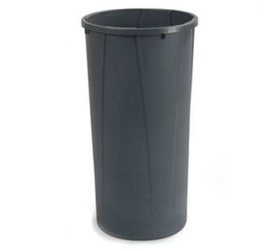 Carlisle 343122-23 22-gal Round Waste Container - Handles, Polyethylene, Gray