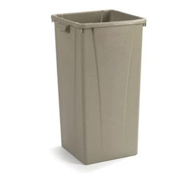 Carlisle 343523-06 23-gal Square Waste Container - Polyethylene, Beige