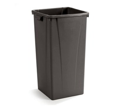 Carlisle 343523-69 23-gal Square Waste Container - Polyethylene, Brown