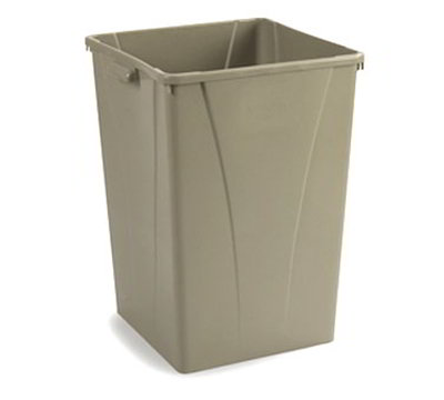 Carlisle 343935-06 35-gal Square Waste Container - Polyethylene, Beige