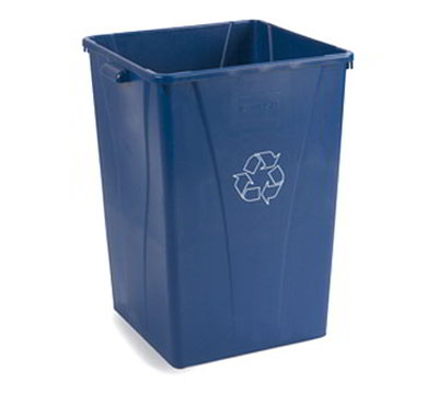 Carlisle 343935REC-14 35-gal Square Recycle Container - Polyethylene, Blue