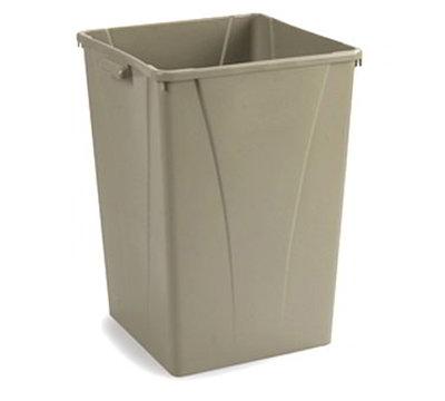 Carlisle 343950-06 50-gal Square Waste Container - Polyethylene, Beige