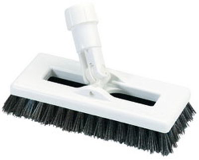 "Carlisle 3621966300 8"" Swivel Scrub Floor Brush with Handle - Poly/Plastic"