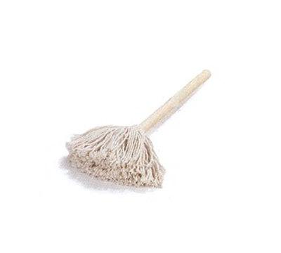 "Carlisle 3623200 10"" Bowl Mop - Cotton Mop Head, Smooth Wood Handle"
