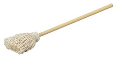"Carlisle 3623300 20"" Bowl Mop - Cotton Mop Head, Smooth Wood Handle"
