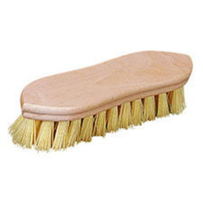 "Carlisle 3627700 9"" Utility Scrub Brush - Tampico/Wood"