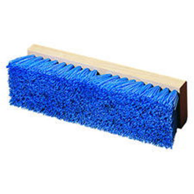 "Carlisle 36293P14 12"" Deck Scrub Brush - Poly/Hardwood, Blue"
