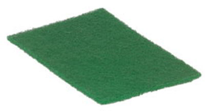 "Carlisle 3639608 Scour Pad - 9x6"" Medium Duty, Synthetic, Green"