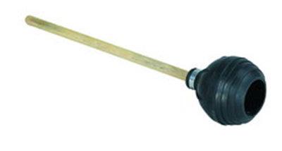 carlisle 36439100 20 toilet plunger force cup suction wood handle black. Black Bedroom Furniture Sets. Home Design Ideas