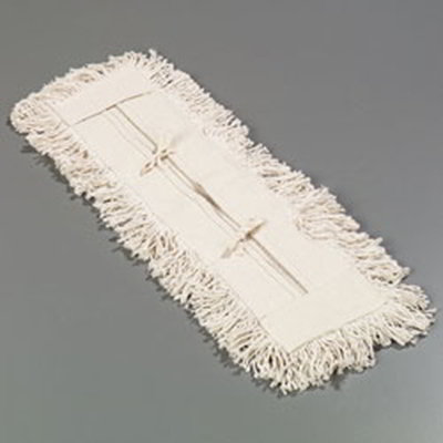 "Carlisle 364752400 24"" Dust Mop Refill - Full Tie Back, Cotton Yarn"