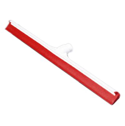 "Carlisle 3656805 24"" Floor Squeegee Head - Straight, Foam Rubber Blade, Red"