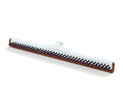 Carlisle 36781400 14-in Red Double Rubber Squeegee Scrub w/ Bristles, White