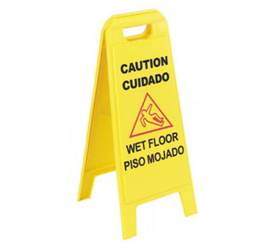 "Carlisle 3690300 Wet Floor Sign - 11x25""  2-Sided, Multi-"