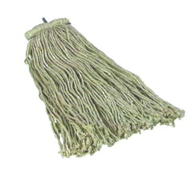 Carlisle 369016C00 Screw Top Mop Head - #16, 4-Ply, Cut End, Cotton Yarn