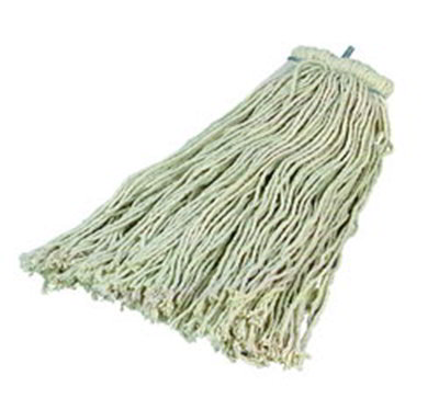 Carlisle 369024C00 Screw Top Mop Head - #24, 4-Ply, Cut End, Cotton Yarn