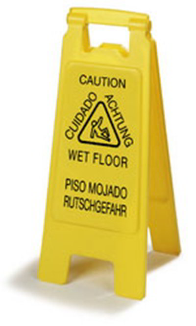 Carlisle 3690904 Wet Floor Safety Sign - 11x25""