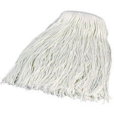 Carlisle 36912000 8-Ply Mop Head w/ Cut-End, White Rayon Yarn, #20