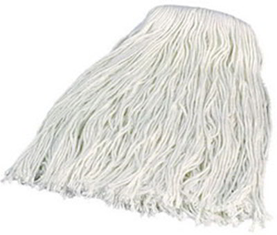 Carlisle 369070B00 Wet Mop Head - #20, 4-Ply, Cut-End, Rayon Yarn
