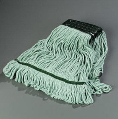 Carlisle 369478B09 Wet Mop Head - 4-Ply, Synthetic/Cotton Yarn, Green