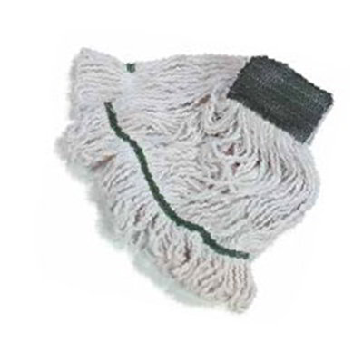 Carlisle 369819B00 Wet Mop Head - #32, 4-Ply, Cut-End, White Cotton Yarn
