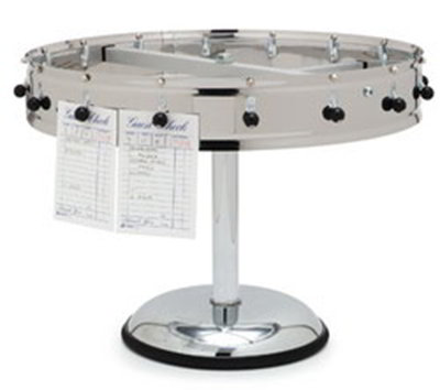 "Carlisle 3816MP 18"" Pedestal Order Wheel - Adjustable, Stainless"