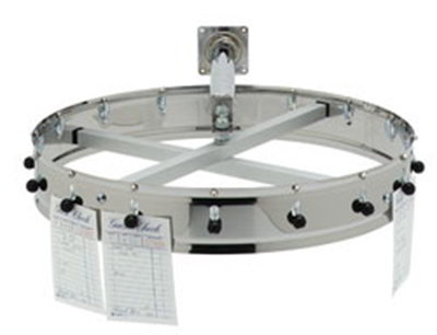 "Carlisle 3816WH 18"" Order Wheel - Wall-Mount, Stainless"