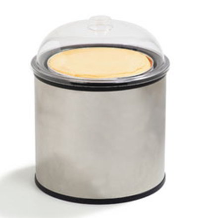 "Carlisle 38655 12"" Ice Cream Shroud - 3-Tub Capacity, Stainless"