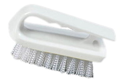 "Carlisle 4002402 6"" Bake Pan Lip Brush - Poly/Plastic, White"