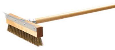 "Carlisle 4029300 10"" Oven Brush with Scraper Head - Brass"