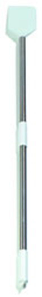 "Carlisle 4035400 48"" Paddle Scraper - 7-1/2"" Blade, Stainless Handle, Nylon, White"