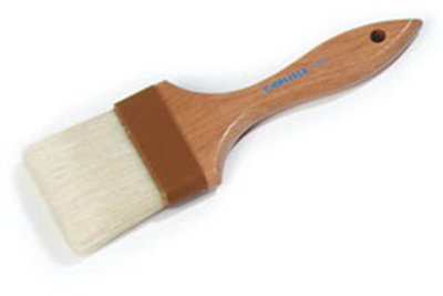 "Carlisle 4037500 Basting Brush - 3"" Bristles, Brown"