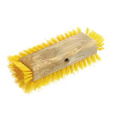 "Carlisle 4042214 10"" Dual Surface Floor Scrub Brush Head - Poly/Plastic, Blue"