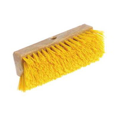 "Carlisle 4042303 10"" Hi-Lo Floor Brush Head - Crimped Synthetic Bristles, Poly, Black"