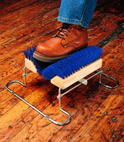 "Carlisle 4042414 6"" Boot 'N Shoe Brush - Blue"