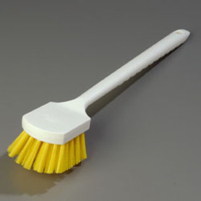 "Carlisle 4050104 20"" Utility Brush - Poly, Yellow"