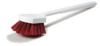 "Carlisle 4050105 20"" Utility Brush - Poly, Red"
