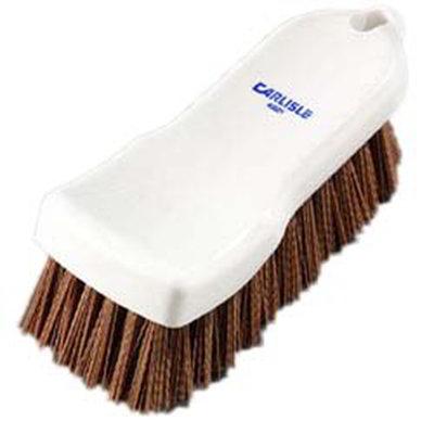 "Carlisle 4052125 Cutting Board Brush - 6x2-1/2"" White/Tan"